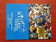 CFB 1983 COLORADO BUFFALOES Football Schedule College FB