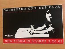 DASHBOARD CONFESSIONAL Chris Carrabba Promo STICKER Vagrant Records Emo Punk FL