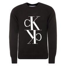 Calvin Klein Mirrored Monogram Knitted Jumper / Sweater / Sweatshirt Black
