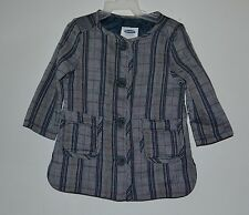 NWT Old Navy Jacket Dress, Infant Girl's Size 12-18 months, Blue/Gray, Button Up