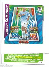 2015 / 2016 EPL Match Attax Live (P15) Vincent KOMPANY Manchester City