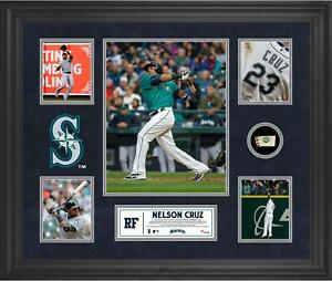Nelson Cruz Seattle Mariners Framed 5-Photo Collage & Piece of Game-Used Ball