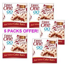 Fibre One 90 Calorie Red Velvet High Fibre Cake Bars SPECIAL x 5 BOXES DEAL!!!