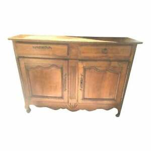 Antique French Country Fruitwood Buffet , Sideboard
