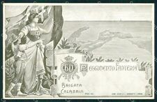 Militari 60º Reggimento Fanteria Brigata Calabria cartolina XF0163