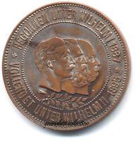 INAUGURAZIONE CANALE DI KIEL 1895 MEDAGLIA GERMANIA GUGLIELMO II IMPERATORE