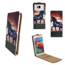 HUAWEI Ideos X3 - Handy Tasche Etui - XS Flip Pferd Ponny