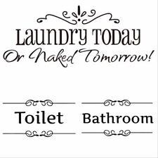Removable Door Sticker Bathroom/Laundury/Toilet  home decor