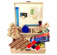 Cigarette Wooden Stash Box With Rolling Tray Large Perfect Organizers Ring Gift