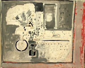 EDITH ISSAC ROSE 1929-2018 NEW YORK CITY ABSTRACT DESK TOP STILL LIFE PAINTING