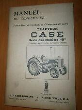 Custodia Tractor Series models D : Manual driver