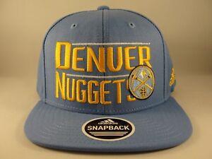 Denver Nuggets NBA Adidas Snapback Hat Cap Blue