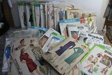 F Simplicity Sewing Patterns Women Vintage Retro Clothing 1940-1990s Originals