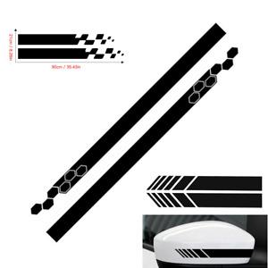 5Pcs Car Side Body Vinyl Decal Sticker Sports Racing Stripe Hood Mirror Decals