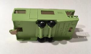 Phantom Matchbox Lesney #23 Caravan Trailer Pre Pro In Lime Green Tan Interior.