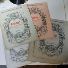 Sinfonia Beethoven 7 per pianoforte Harmonium & Stringhe, Set di parti, Breitkopf