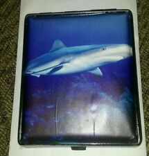 Double Sided Shark Cigarette Money Credit Card  Case Holds 20 Cigarettes