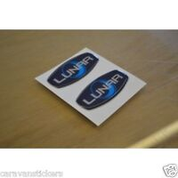 LUNAR - (RESIN DOMED) - Caravan Stickers Decals Graphics Badge - PAIR
