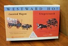 GLENCOE MODELS COVERED WAGON & STAGECOACH MODEL KIT 1/90  (suitable for HO)