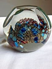 EARLY RICK SATAVA LARGE  FACETED CORAL REEF PAPERWEIGHT