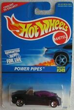 Hot Wheels 1997 no 349 Power Pipes Hotwheels Long Card