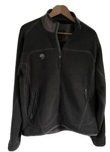 Mens Mountain Hardwear Polartec Fleece Jacket Coat M Full Zip Grey Hiking