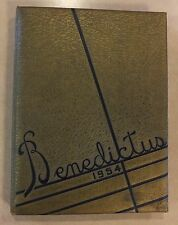 1954 FORT BRANCH INDIANA HIGH SCHOOL YEARBOOK BENEDICTUS F.B.H.S. SPORTS PHOTOS