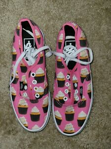 Vans cupcake shoes sneakers size 5.5 Youth 7 Women's NEW