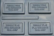 THANK YOU FOR SHARING OUR JOY CARD CHOCOLATE CANDY MOLD WEDDING FAVORS USED