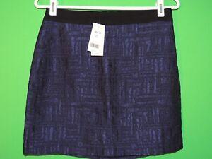 Banana Republic Womens Size Petite 4 Purple / Black Geometric Mini Skirt NEW