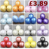"100 PCS HELIUM Pearlised Latex Balloons 10"" Wedding Birthday Party CHRISTENING"