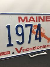 Maine License Plate Lobster Graphic Birth Year 1974 ES VACATIONLAND ME