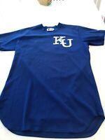 Game Worn Used Kansas Jayhawks KU Baseball Jersey Victory Size 48 #44