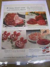Original 1957 Ocean Spray Cranberry Sauce Magazine  Ad