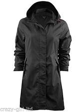 Womens Brave Soul Jacket Ladies Raincoat Fishtail Waterproof Parka Plain Hooded