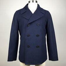 GAP Classic Peacoat Jacket Coat Mens Size Medium Navy Blue Wool Blend #910166