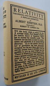 Relativity, 1921, Albert Einstein, First Form; Stated 6th Edition Methuen