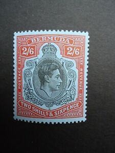 1950 BERMUDA 2/6- black & orange-red Perf 13 SG117d MNH unmounted mint