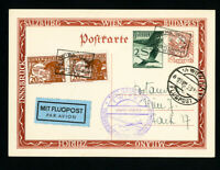 Austria Stamps 1933 Scarce Air Postal Card with Glider Includes Label