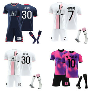 UK 21/22 Kids Adults Football Full Kits Boys Soccer Training Suits Custom Jersey