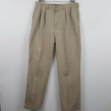 Polo Ralph Lauren Nude/Tan Pleated Chino Men's Pants Size 34 x 34 Actual 34 x 33