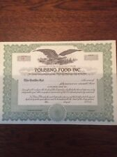 Poliseno Food Inc. Un-Issued Certificate Invalid  SHARE CERTIFICATE