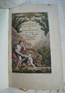 1771 Le tableau de la volupté ou les quatre parties du jour Poème En vers libres