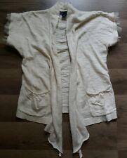 Gap Kids Girls Sweater Ivory Short Sleeved Open Sweater Cardigan Size M 8 Ruffle