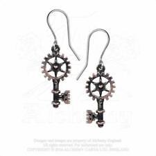 Alchemy Vintage Key Earrings - Bronze Tone Clavitraction Steampunk Pewter E377