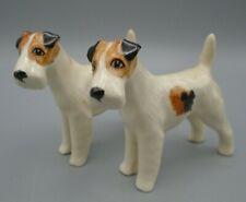Vintage Miniature Fox Terrier Dog Figurines Set of 2