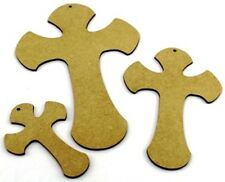 MDF Cross - Pack of 3, Christian, Easter, Christmas - Religious 3mm Thick