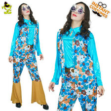 1970s Classical Hippie Costumes Women Fashion Hippe Girl Cosplay Fancy Clothing