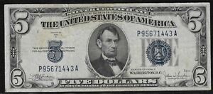 1934-C $5 Small Silver Certificate *Free S/H After 1st Item*