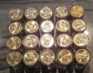 Danbury Mint  Presidential Dollars, 20  Presidents 20 Mint Sealed BU Rolls